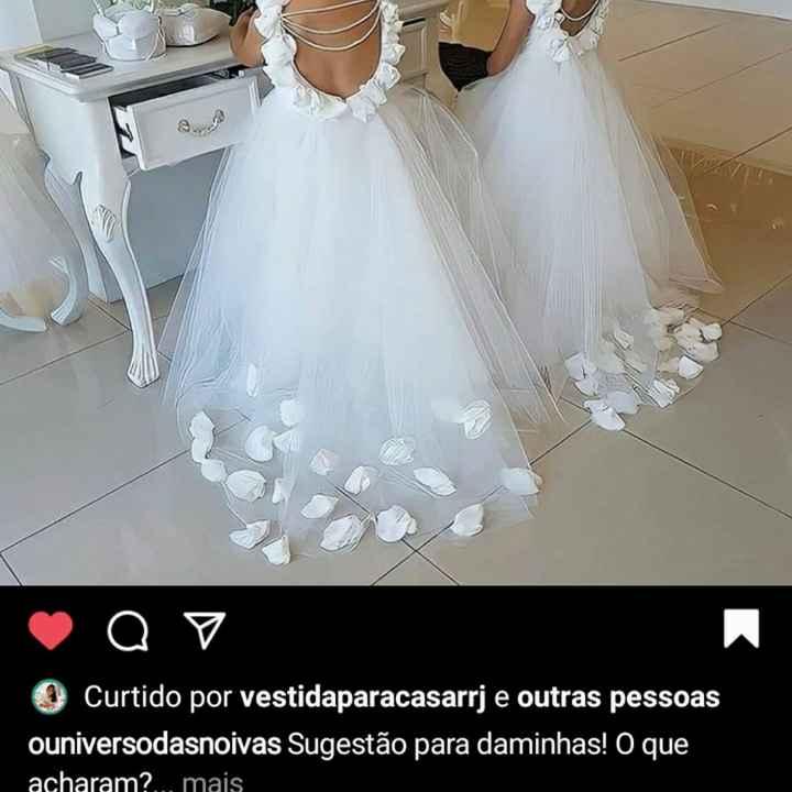 Vestidos iguais para as Daminhas, - 1