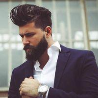 Com barba