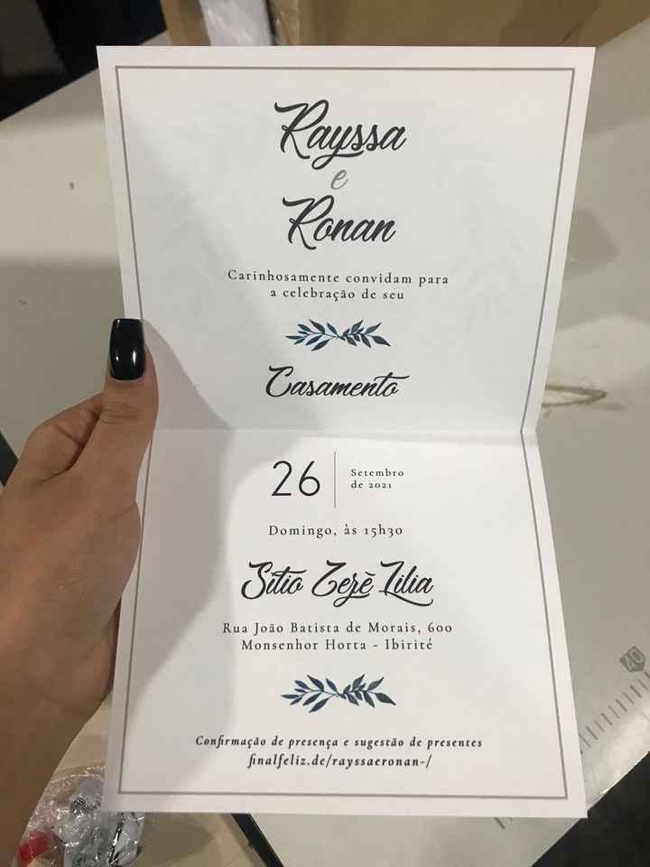 Chegaram nossos convites! ✨ - 3
