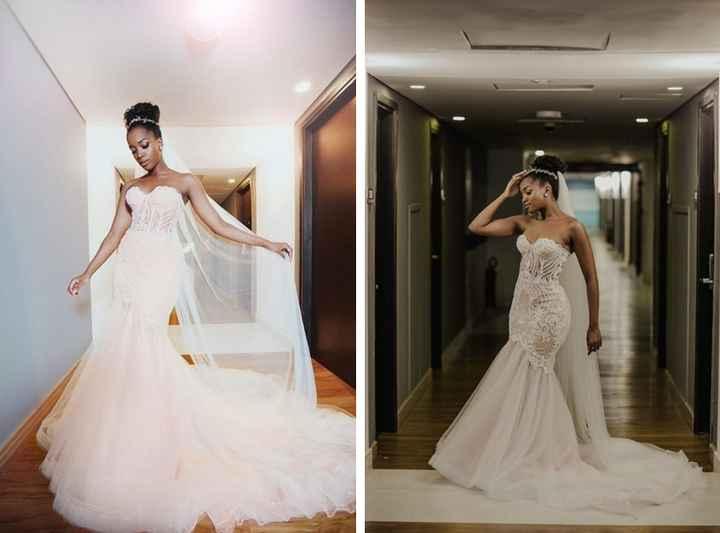 Falando sobre cores: vestido de noiva branco com forro rosa - 4