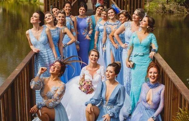 Azul ou Rosa para o vestido das madrinhas? 1