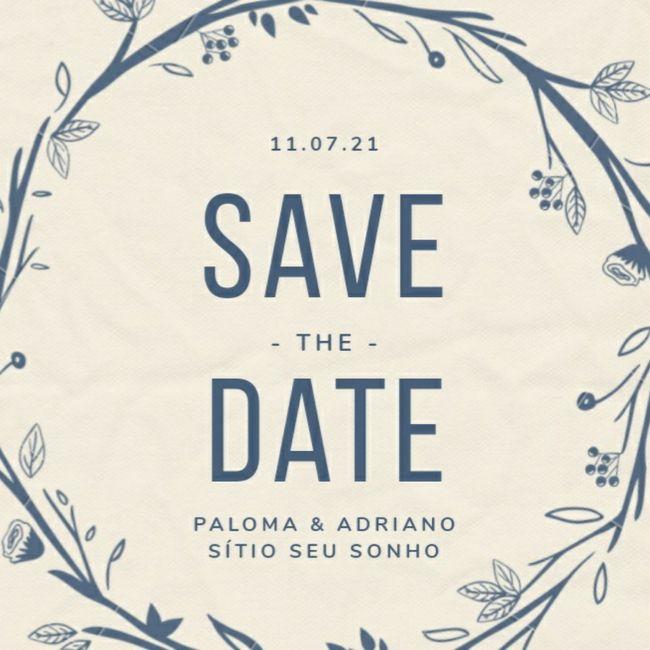 Vem ver meu save the date 💓 2