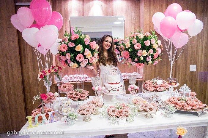 Tema Matrimonio De Amor : Meu bolo e chá de panela decoração