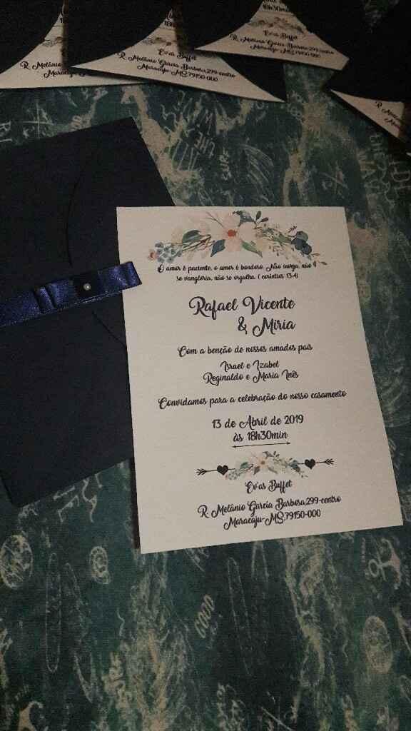 Meus Convites de Casamento !!! - 2