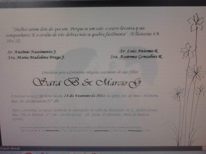 criando convite de casamento