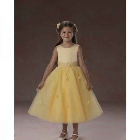 Yellow Childrens Bridesmaid Dresses Uk 53