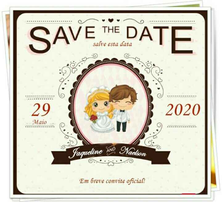 Save the Date. 1,2 ou 3? - 1