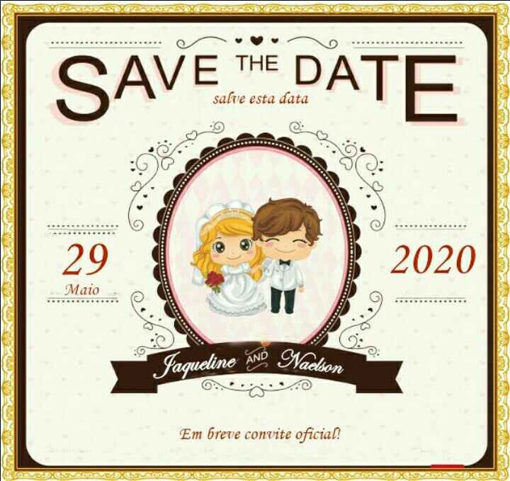 Save the Date. 1,2 ou 3? - 2