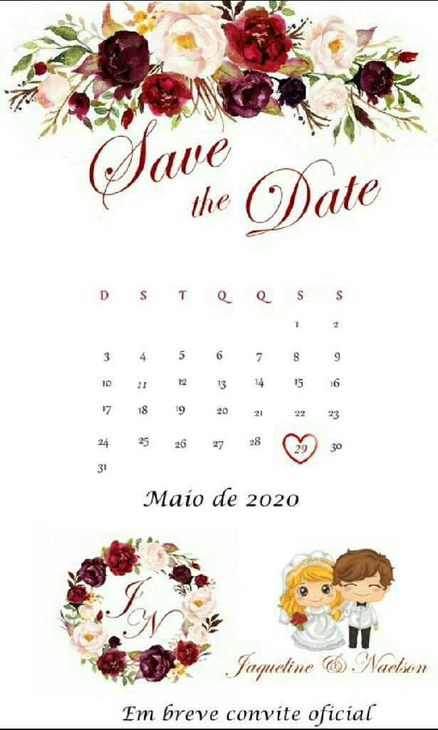 Save the Date. 1,2 ou 3? - 3