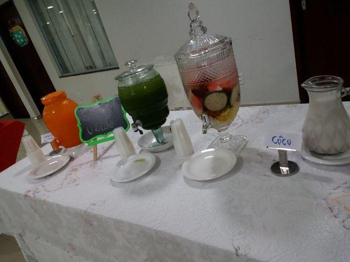 Mesa dos sucos