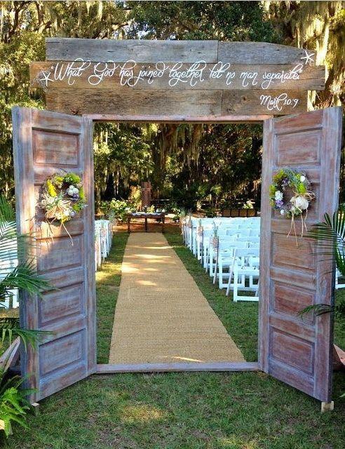 Populares Portas para casamento ao ar livre #vemver TP57