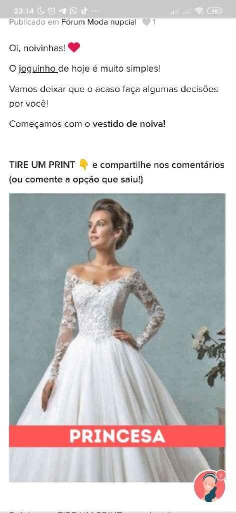 TIRE UM PRINT para decidir o vestido - 1