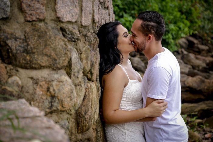 Pré-weddings na comu - Foto de beijo 12