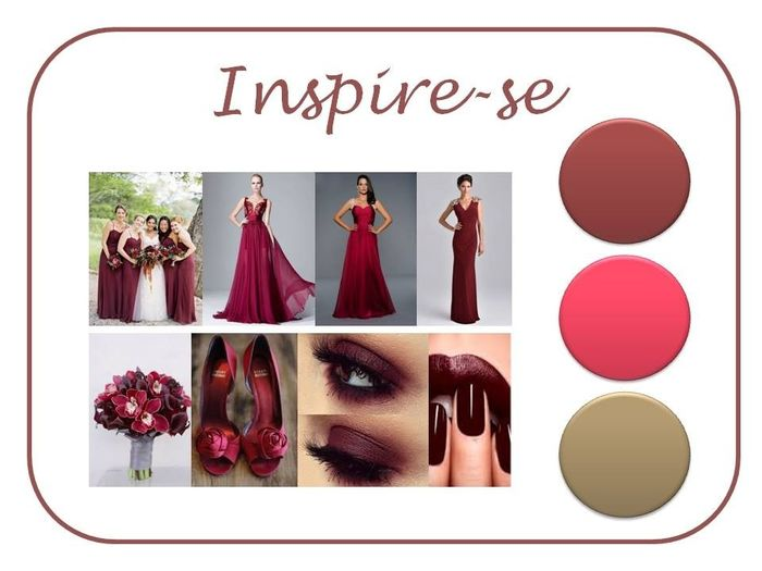 Paleta de cores marsala