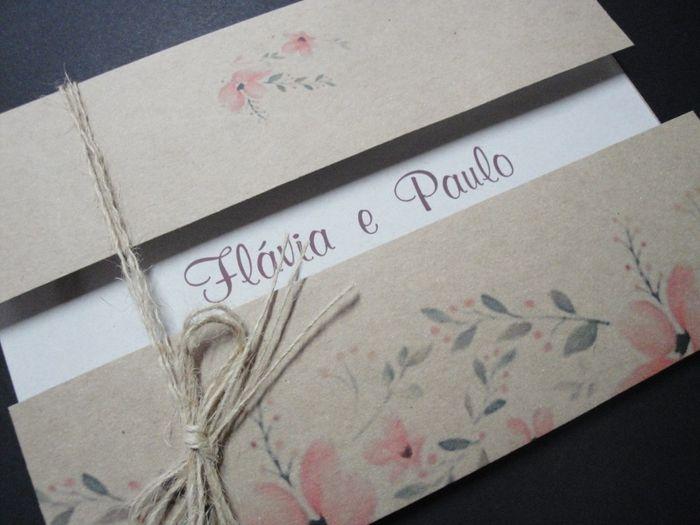 Seu convite de casamento: o envelope 2