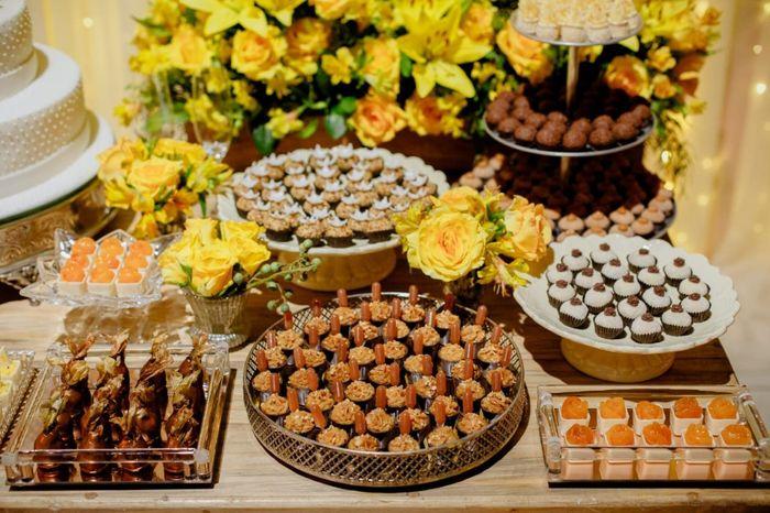 0 a 10: que nota você dá para esta mesa de doces? 1