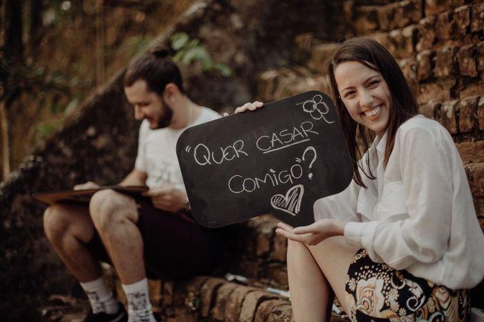 Faz questão do pedido de casamento oficial? 1