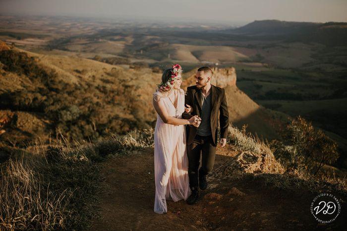 Três cenários para elopement wedding: qual ganha seu coração? 💜 3