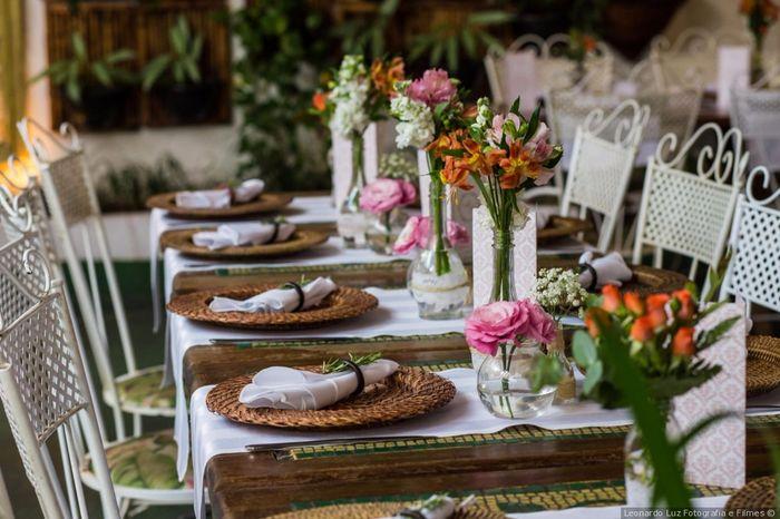Mesa decorada para casamento diurno: qual você salva? 2