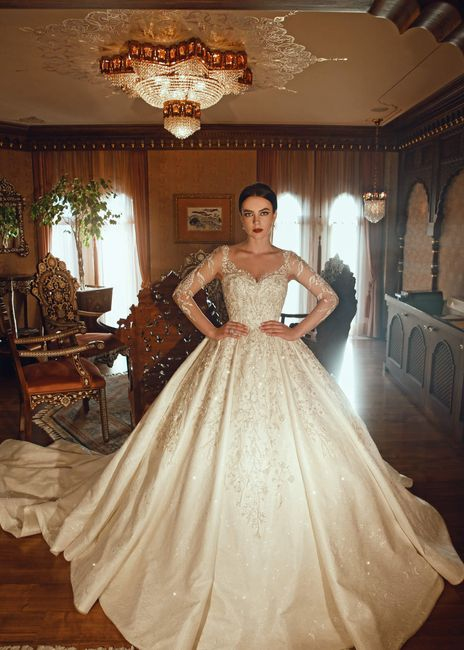 Teria coragem de se casar com um vestido princesudo bem volumoso assim? 🙃 2