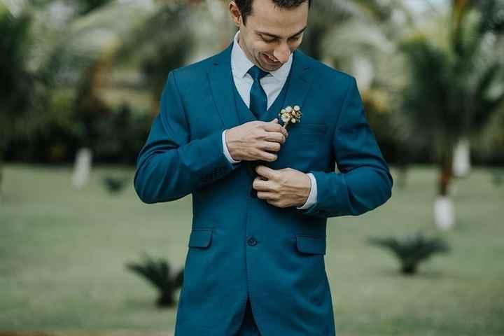 terno do noivo casamento Rústico - 1