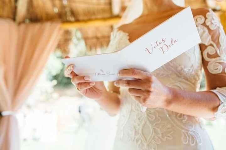 Casamento com votos personalizados: faria ou não faria? - 1
