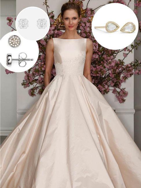 73da750afe O brinco ideal de acordo com o estilo do vestido de noiva
