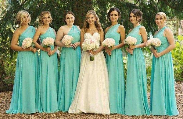 Vestido verde tiffany madrinha casamento