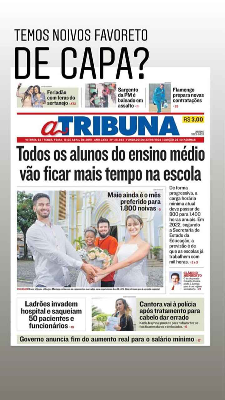 Capa de Jornal ❤️ - 1