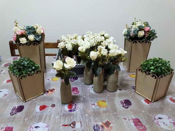 Centro de mesa noivado - 2