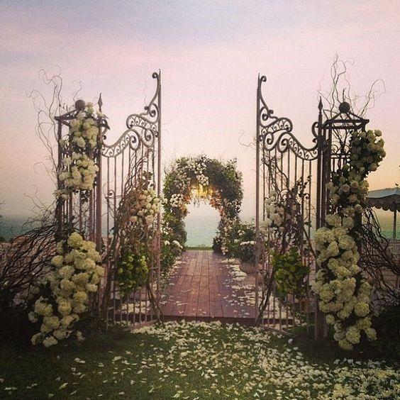 Portas para casamento ao ar livre #vemver 1
