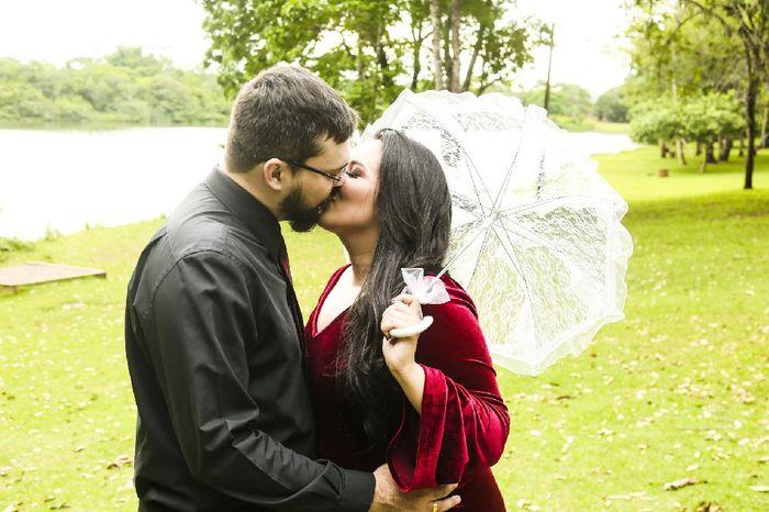Pré-weddings na comu - Foto de beijo 9