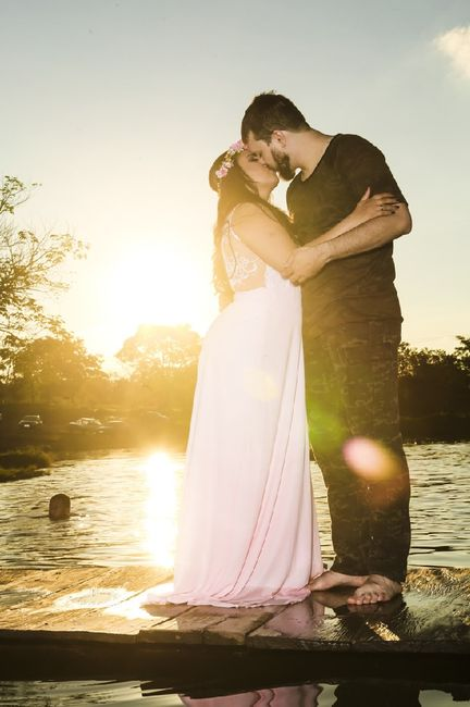Pré-weddings na comu - Foto de beijo 11