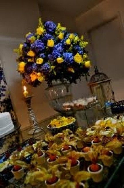 decoracao azul royal e amarelo casamento:Casamento azul marinho e amarelo?