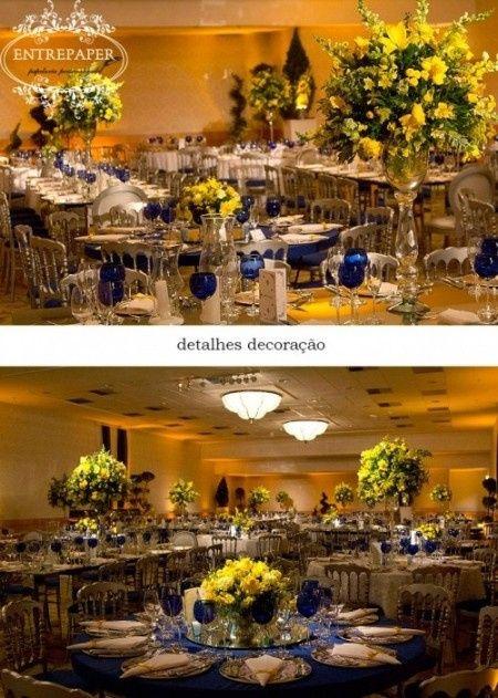 decoracao de festa azul marinho e amarelo : decoracao de festa azul marinho e amarelo:Casamento azul marinho e amarelo?
