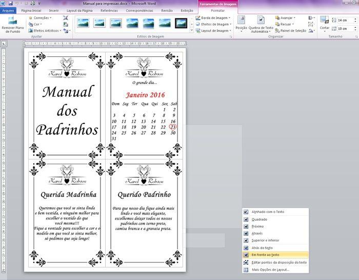 Como imprimi o Manual
