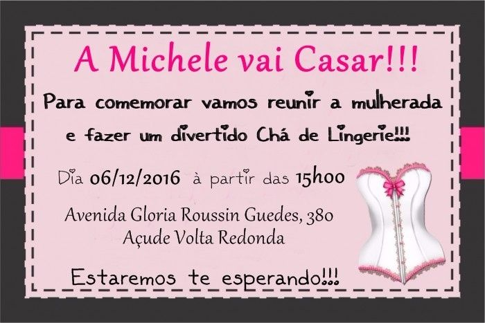 Convite Lingerie