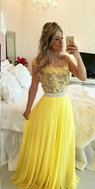 Madrinha Vestido Amarelo