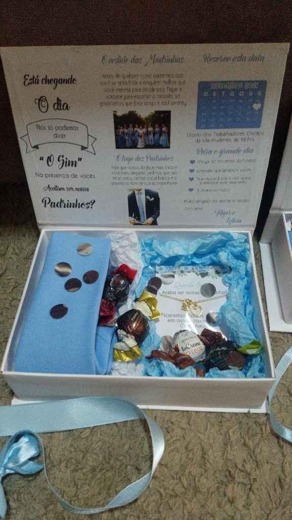 Inspiração para caixa de padrinhos - 2