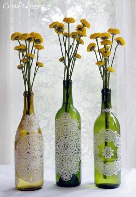 Decora o com garrafas de vidro - Decorar reciclando facil ...