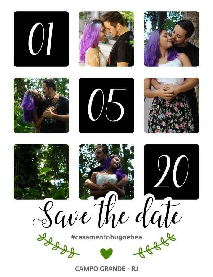 Meu save the date - 1 ano antes #casamentohugoebea 1
