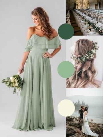 Madrinhas de verdes Esmeralda e verde escuro 💚💚 - 1
