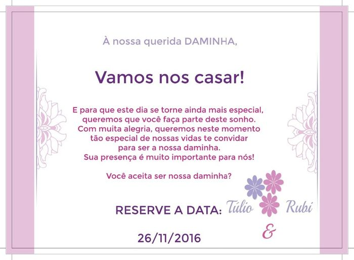 Convite daminha