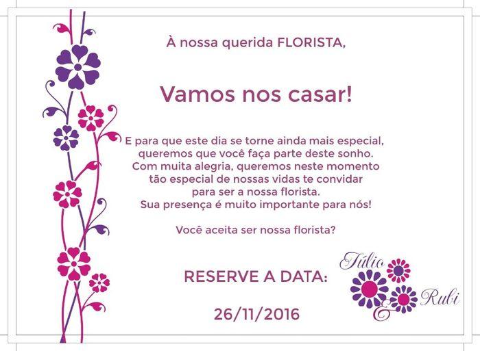 Convite florista