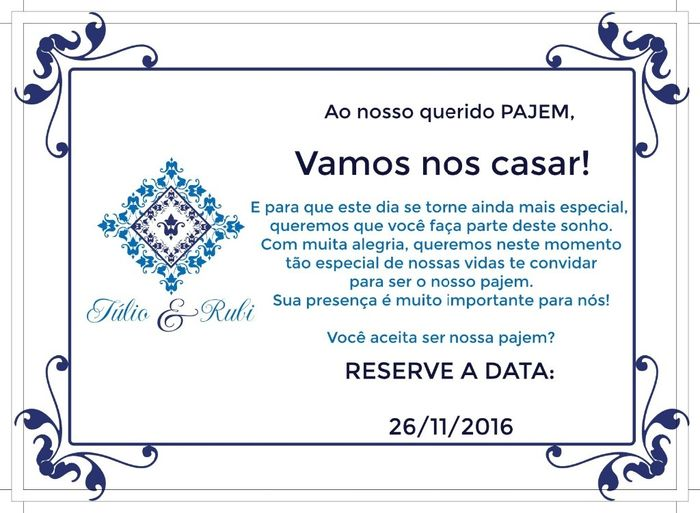 Convite pajem