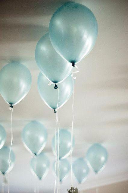 Decoraç u00e3o de casamento na cor azul -> Decoração De Festa Com Balões No Teto