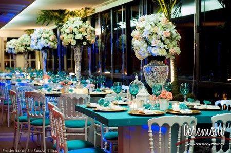 e9108e4fb5 INSPIRAÇÃO: casamento azul tiffany e dourado