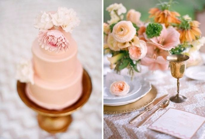 Casamento rosa e dourado