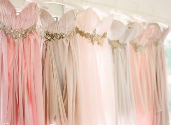 Os vestidos das madrinhas