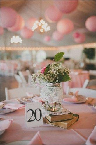 A decoração das mesas